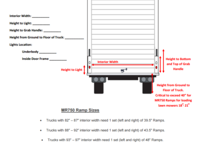 MR-750 Manual Ramp-Truck Measurement Sheet