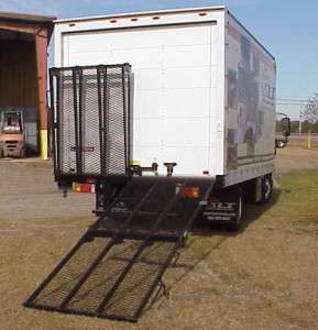 Rear Mounted Box Truck Ramps-Single Extension