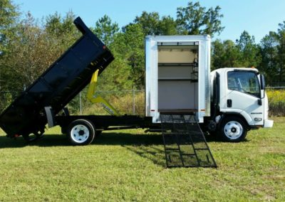 Side Mounted Box Truck Ramp-Super Contractor Truck with Dump
